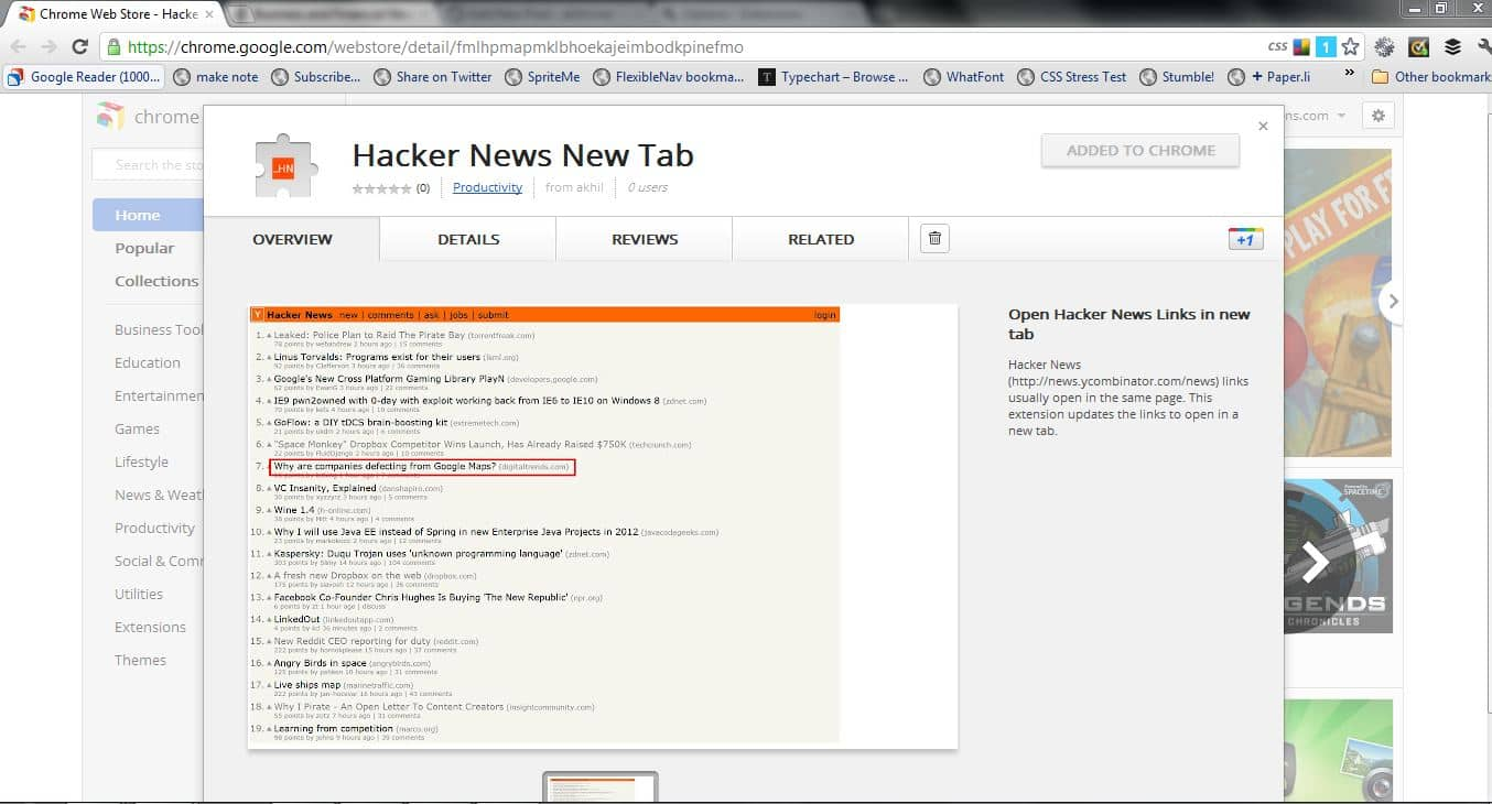Hacker News Chrome Extension - Something about somethings